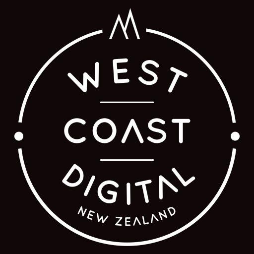 West Coast Digital New Zealand logo black