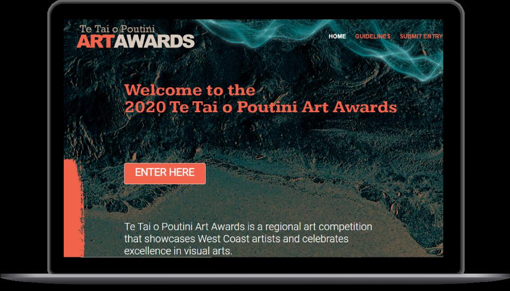 Te Tai o Poutini Art Awards website