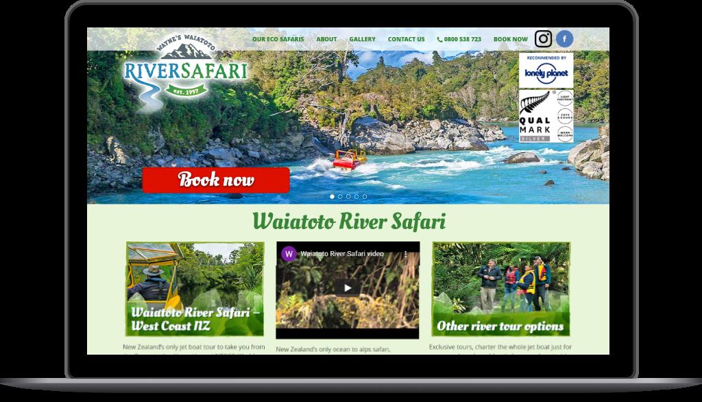 Waiatoto River Safari website